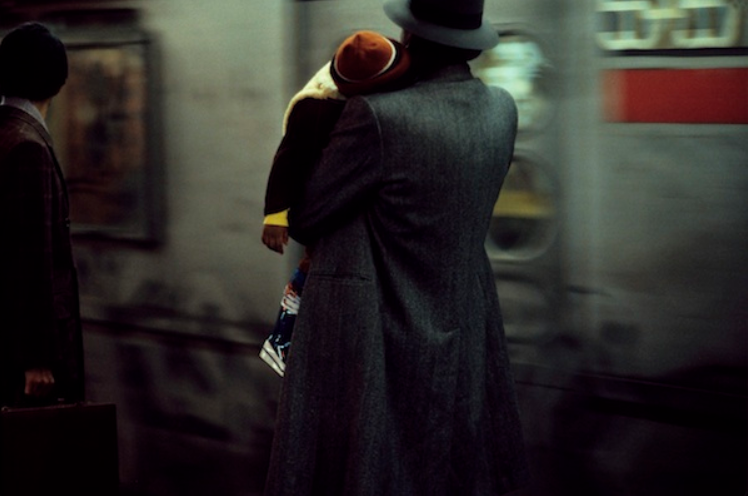 Father and child in the subway, 1984, archival pigment print, printed later © the artist and Gallery 51
