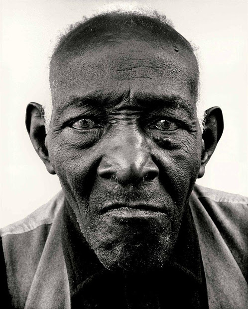 Richard Avedon,  William Casby, born in slavery, Algiers, Louisiana, march 4, 1963 Vintage gelatin Silver Print  image 6X6 1/4 inches paper 14x11 inches Photograph by Richard Avedon © The Richard Avedon Foundation