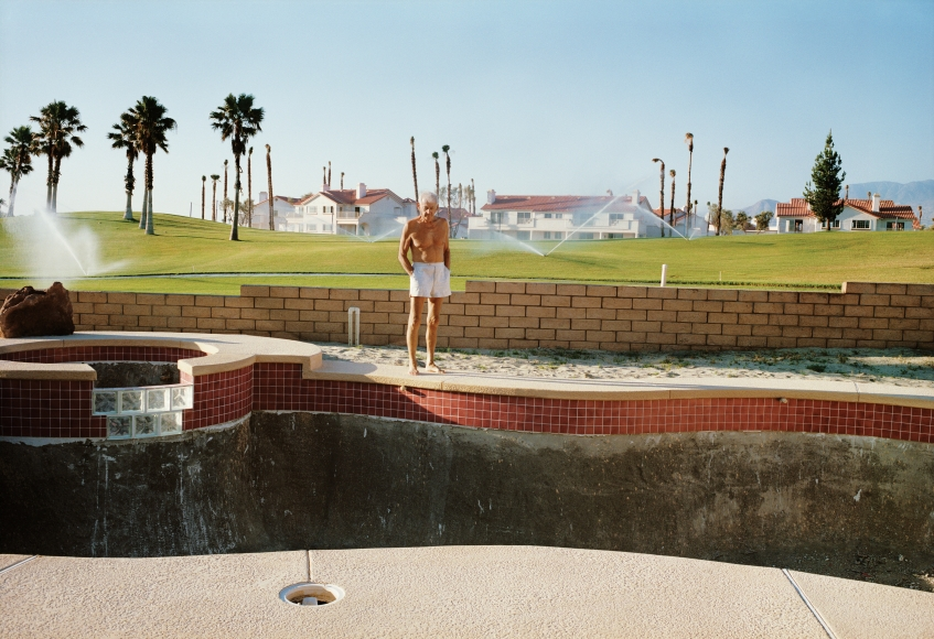Larry Sultan, Empty Pool, from the series Pictures form Home, 1991, 40 x 50 inch archival pigment print  please inquire for additional sizes
