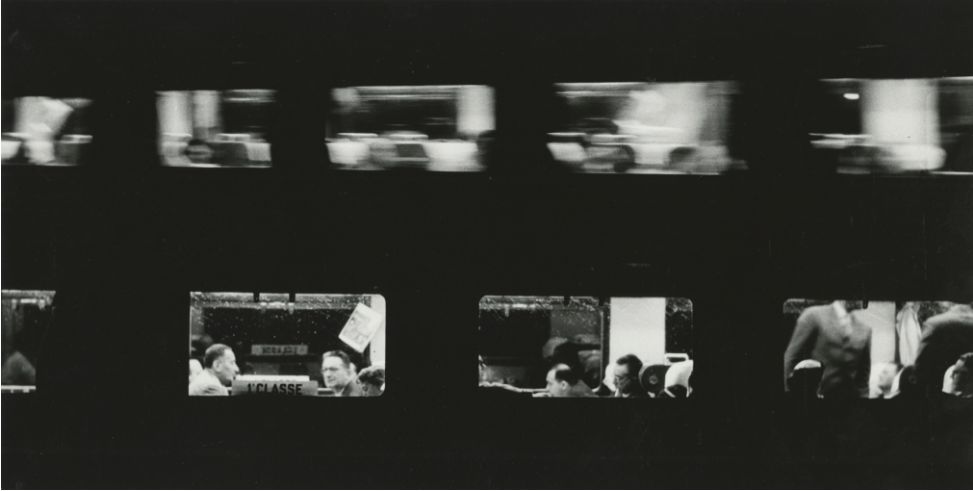 Treini (trains), 1957 - Sante Vittorio Malli - Courtesy Howard Greenberg Gallery