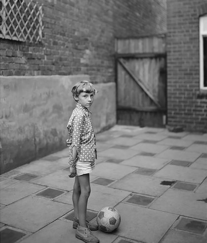 John Myers, Boy with Ball, 1974, Modern silver print, 40 x 50 cm Ed. 6/7 (+ 2 AP)
