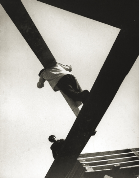 Boris Ignatovich (1899-1976), With a Board, 1929, printed c. 1960s, Gelatin silver print mounted on board