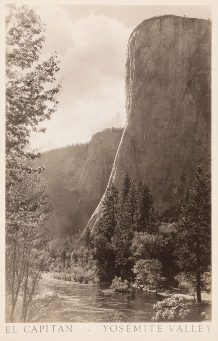 Ansel AdamsEl Capitan—Yosemite Valley, postcard, undated© The Ansel Adams Publishing Rights Trustcollection of Rebecca Senf