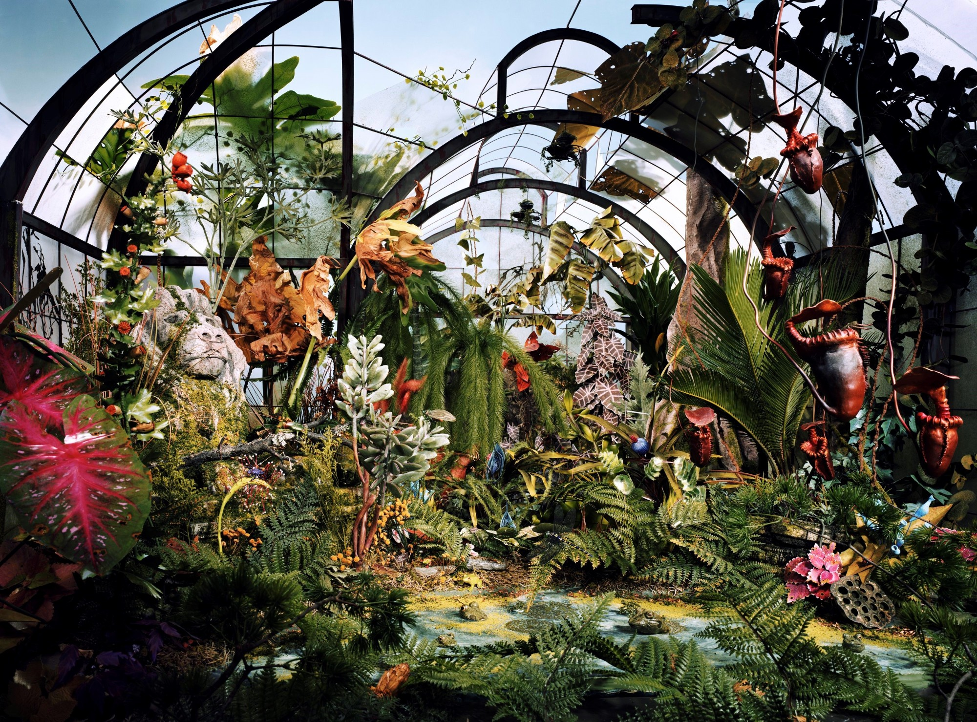 "Lori Nix, Botanic Garden, from ""The City"", 2008, color photograph, cm 76 x 104 ca."