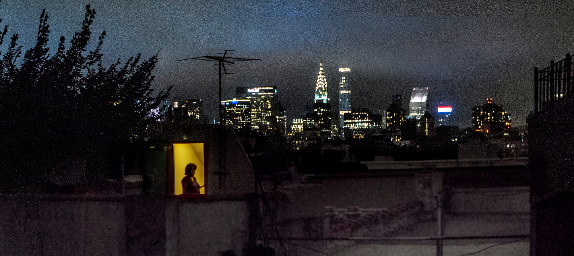 "Sally Davies, 2018. ""Rearview, From My Apartment on East 5th Street."" Inkjet print, 16 H x 20 W in. Museum of the City of New York. Gift of Sally Davies, 2019. 2019.9.12"